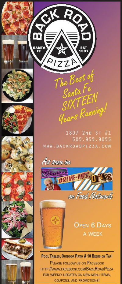 Back Road Pizza brochure