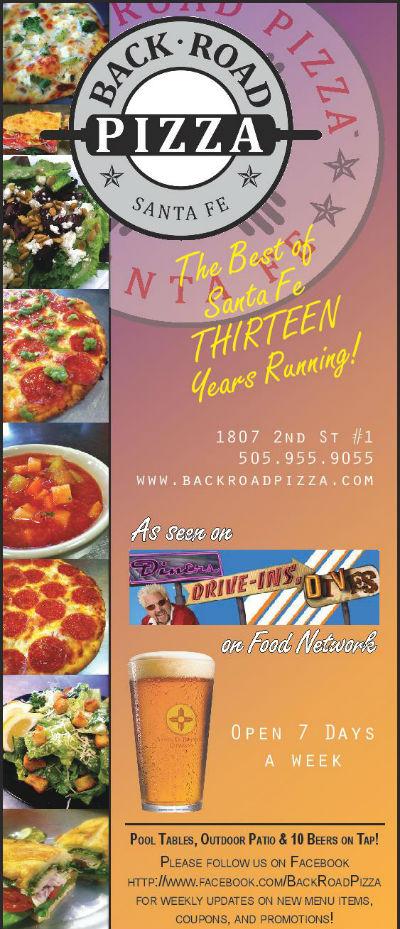 Back Road Pizza brochure
