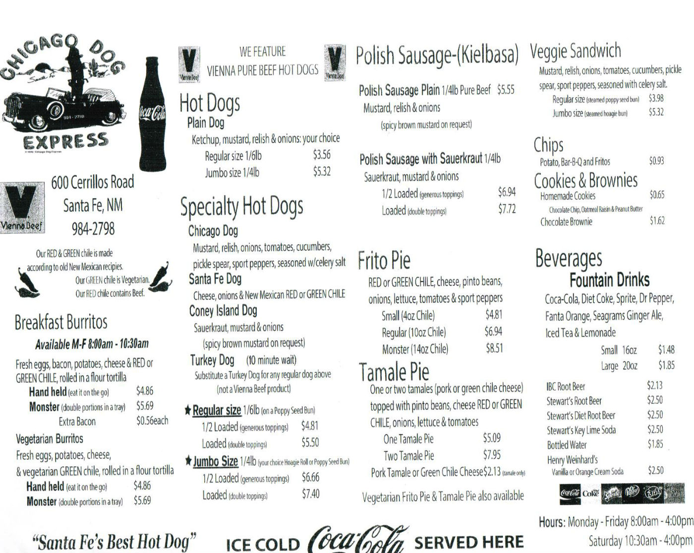 restaurants menus chicago