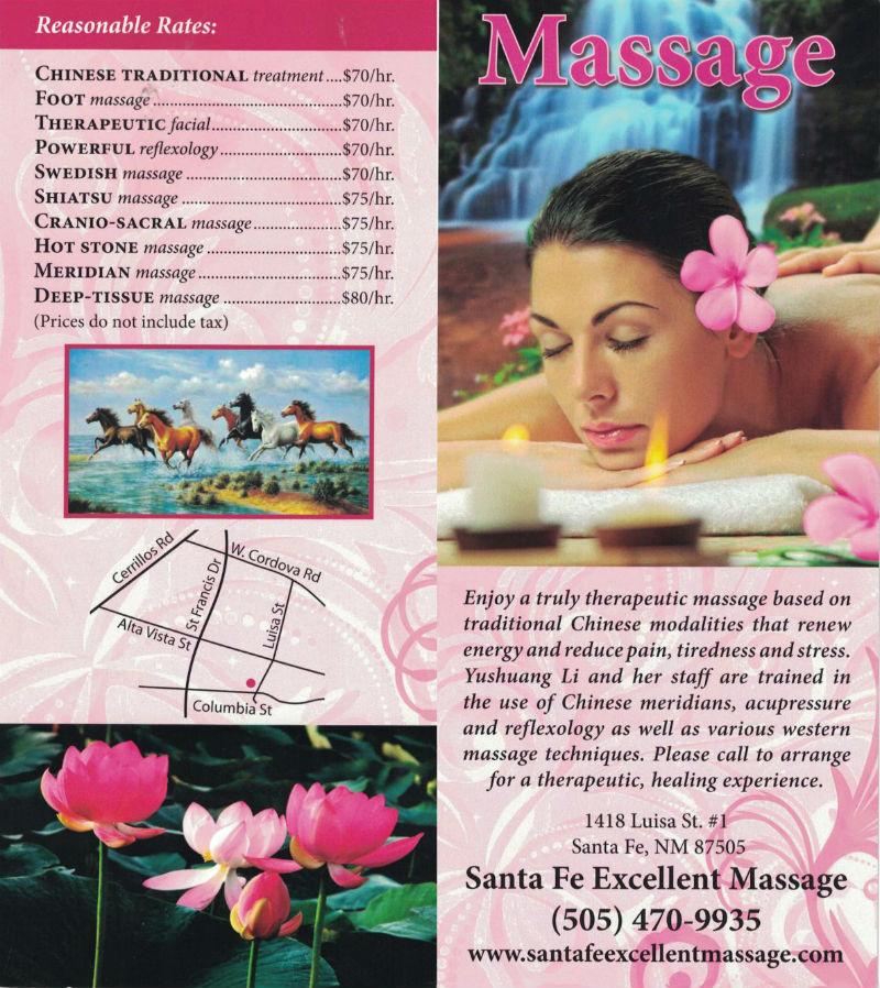 Comprehensive Therapeutic Massage brochure