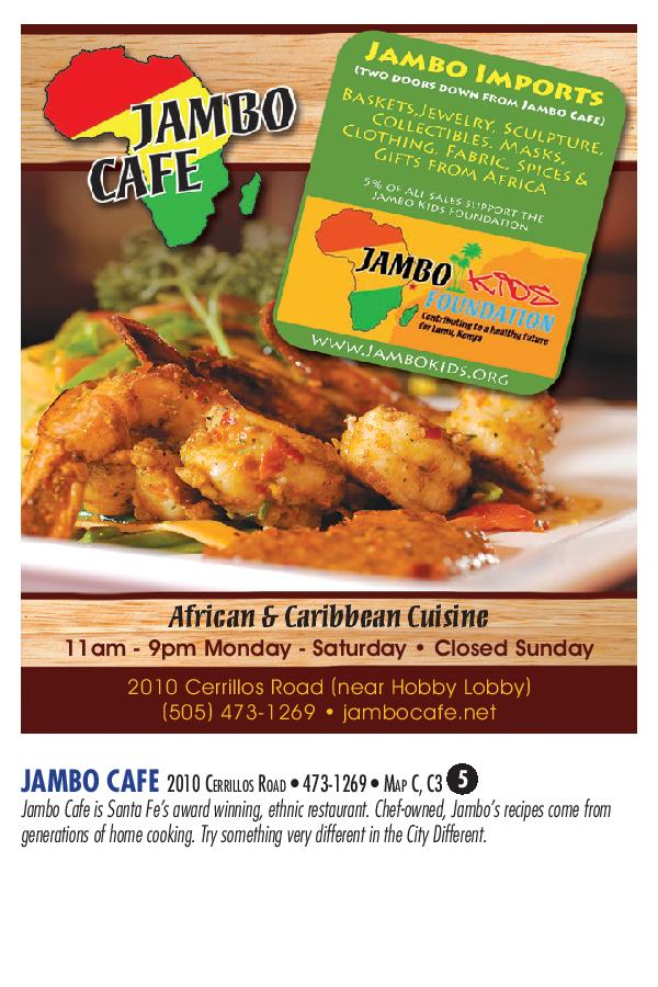 Jambo Cafe brochure