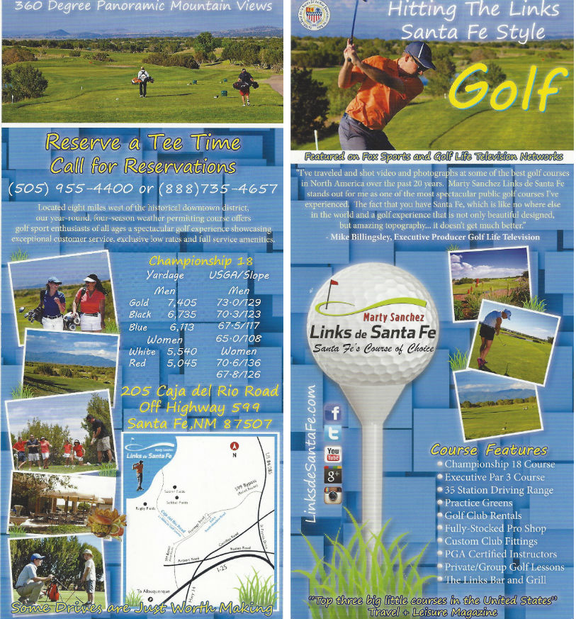 Marty Sanchez Links de Santa Fe Golf brochure