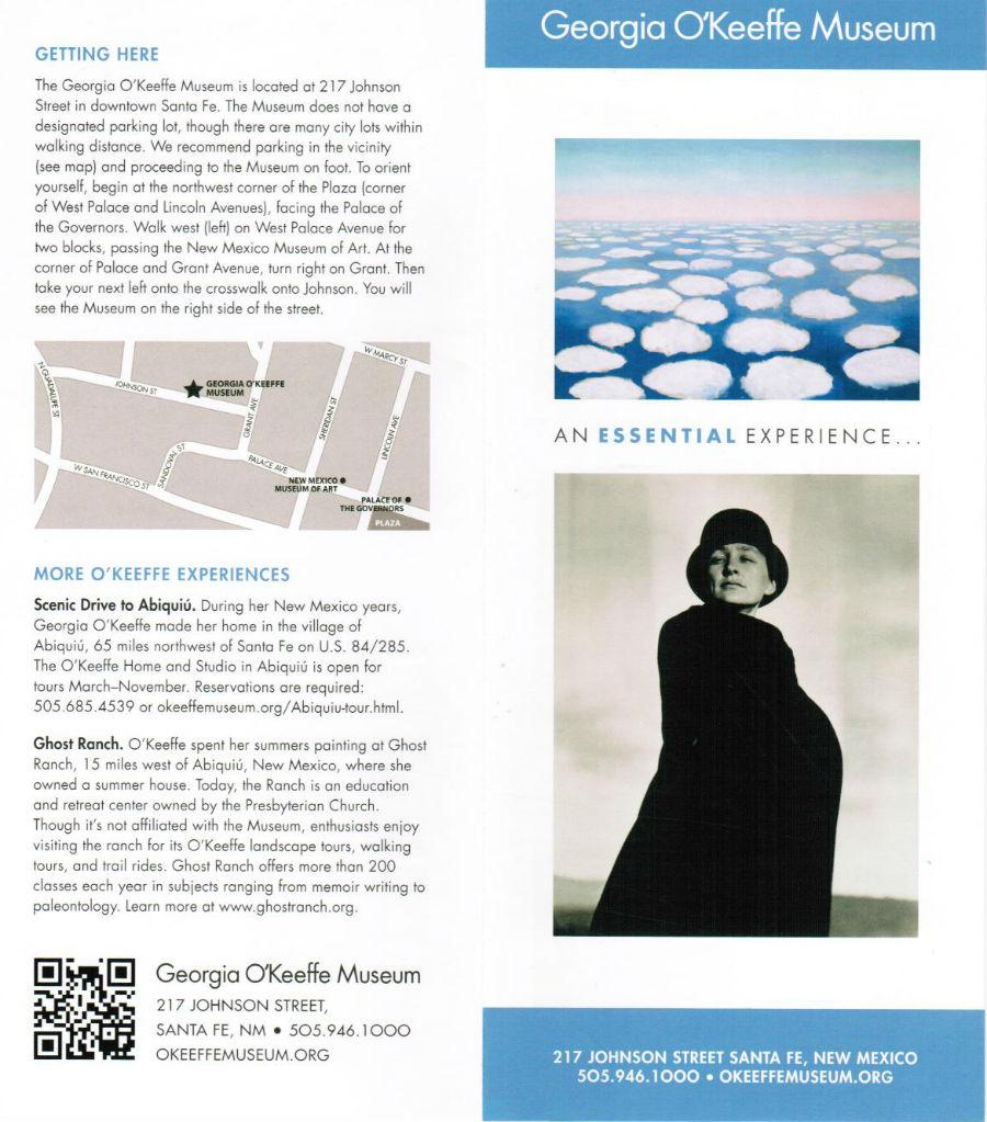 Georgia O'Keeffe Museum brochure