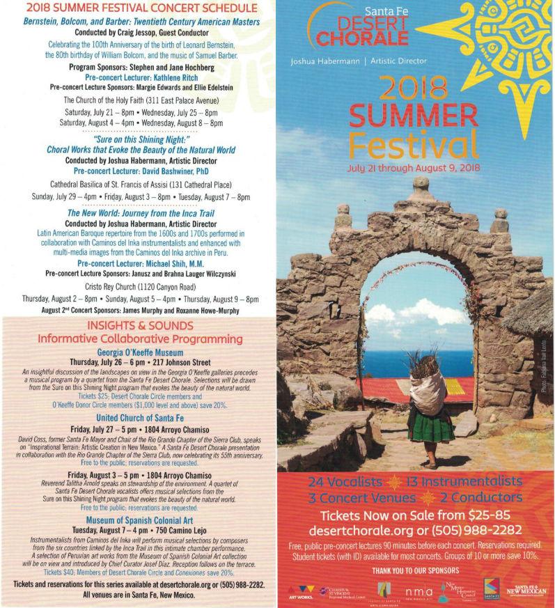 Desert Chorale brochure