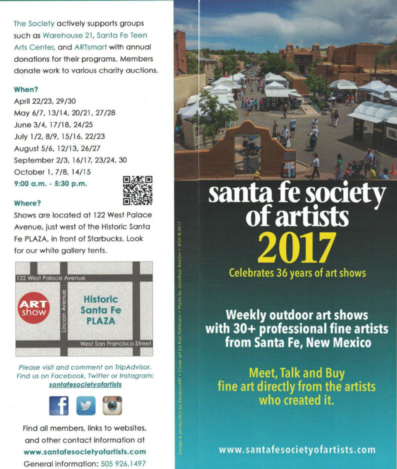 Santa Fe Society of Artists brochure