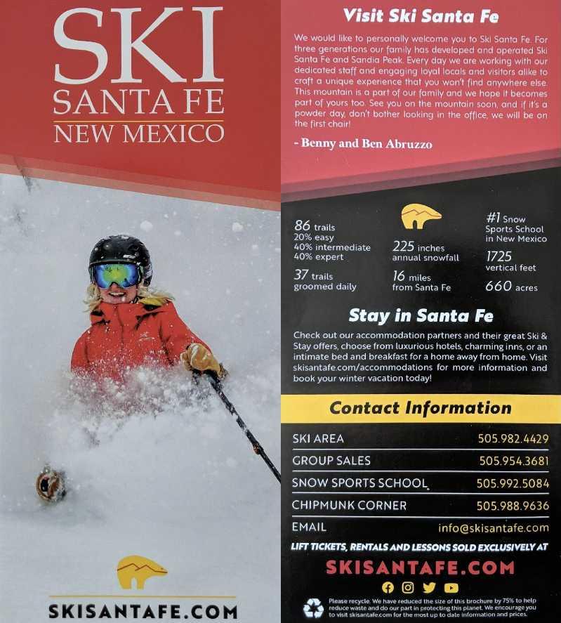 Ski Santa Fe brochure