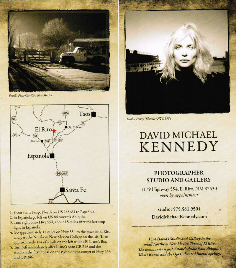 David Michael Kennedy Photography brochure