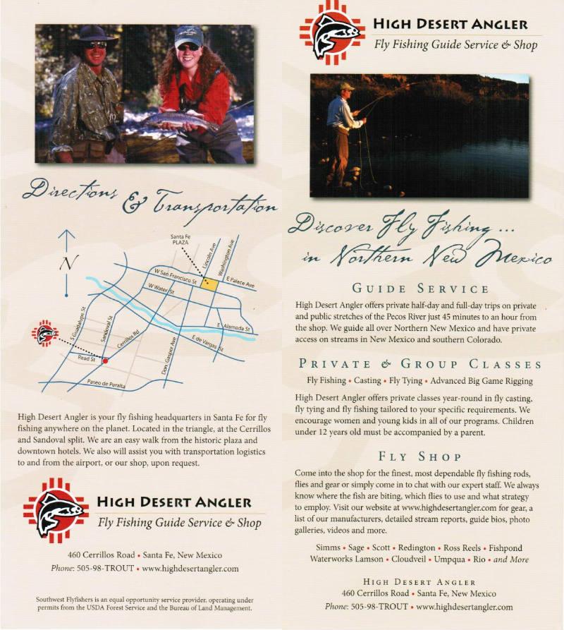 High Desert Angler brochure