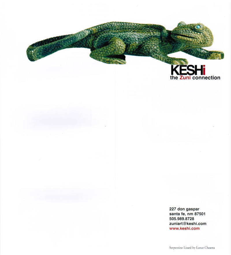 Keshi - The Zuni Collection brochure