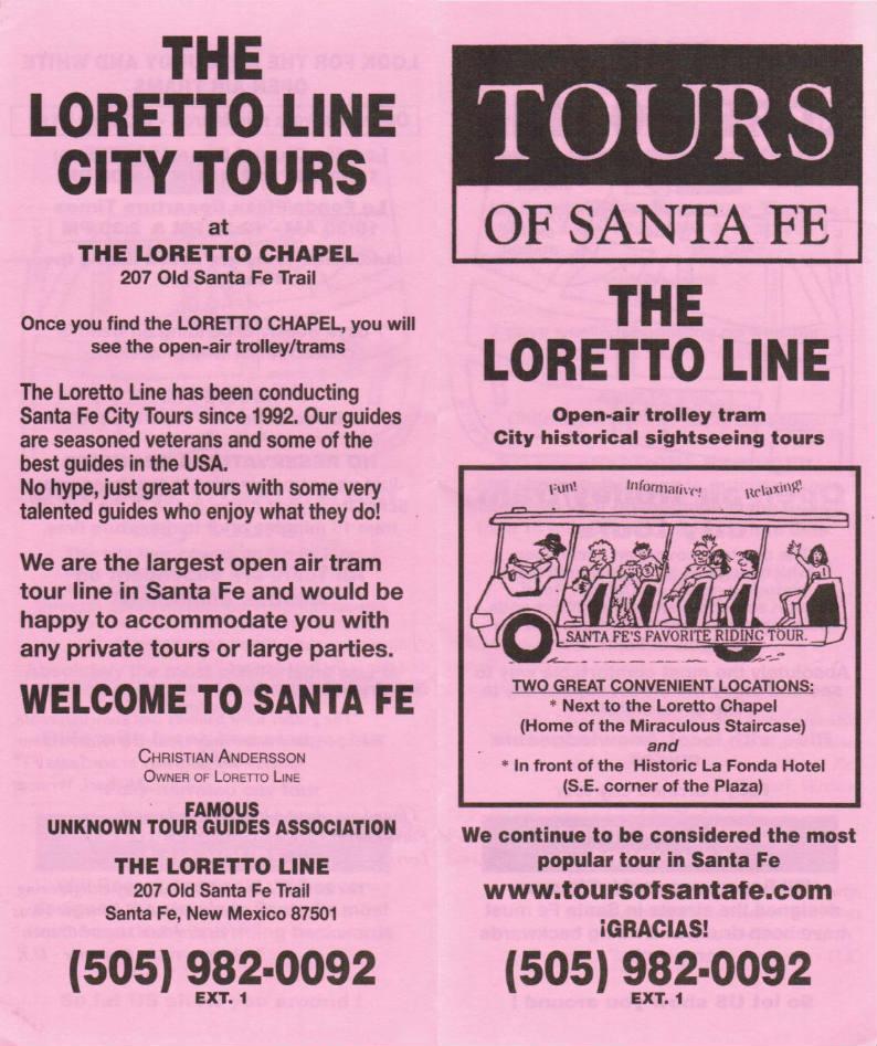 The Loretto Line, City Tours brochure