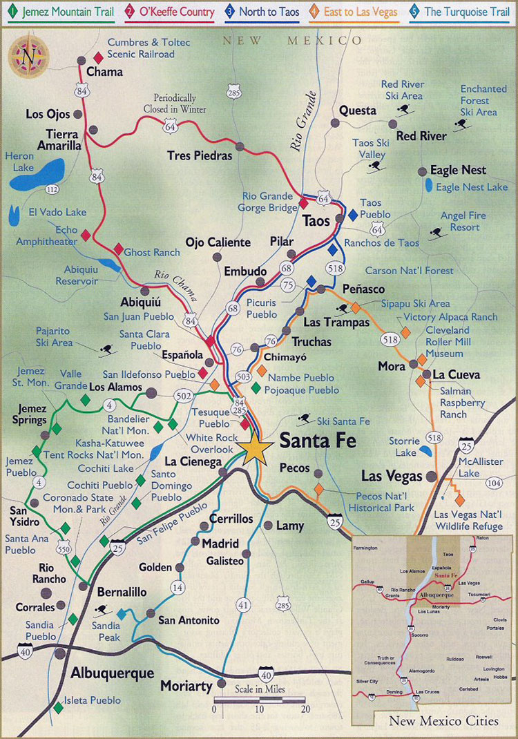 To Do In Santa Fe Information Maps - Map of nm