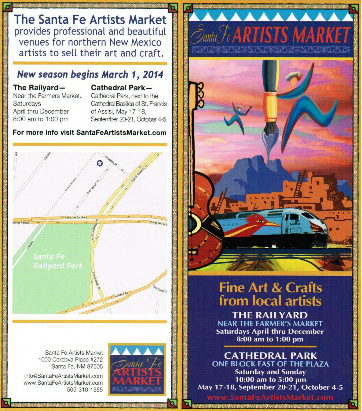 Santa Fe Artists Market brochure