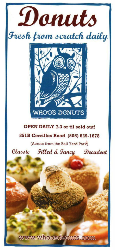 Whoo's Donuts brochure